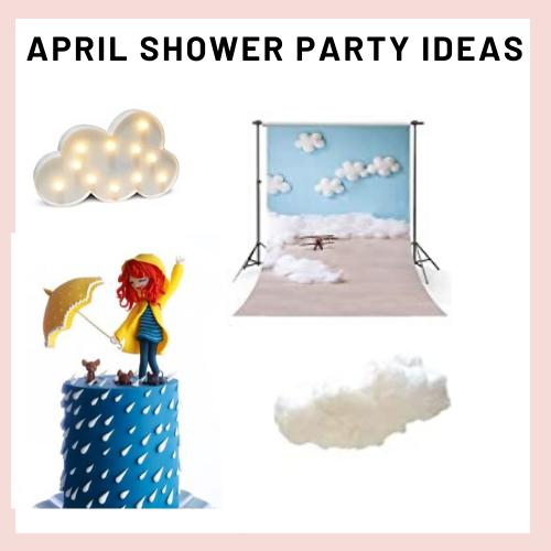 april shower party, cloud party, chiuva de amor party, kids party