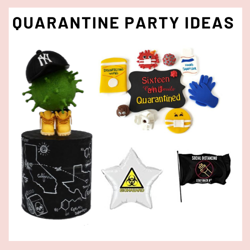 quarantine party, social distance party, covid-19 party, 2020 party